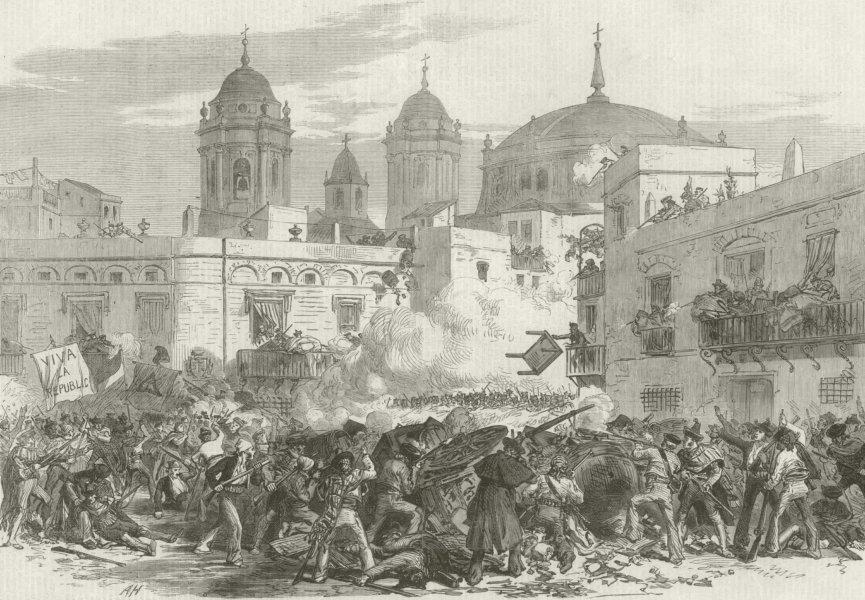 Associate Product Glorious Revolution Spain: Fight barricade Quarter de Los Vinas, Cadiz 1868