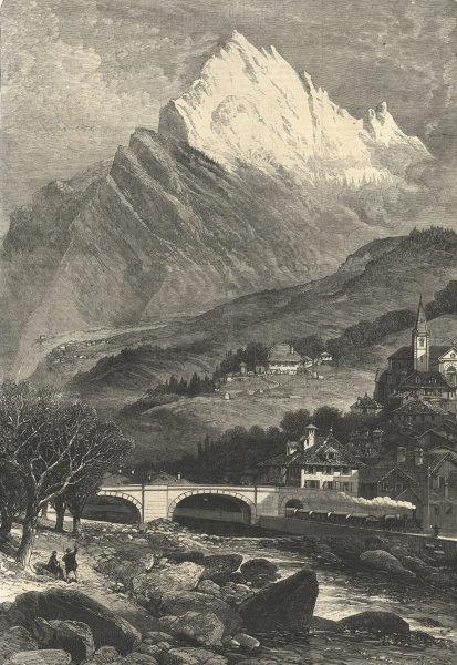 Associate Product Mont Cenis railway. Saint-Michel-de-Maurienne. Savoie 1869 ILN full page print