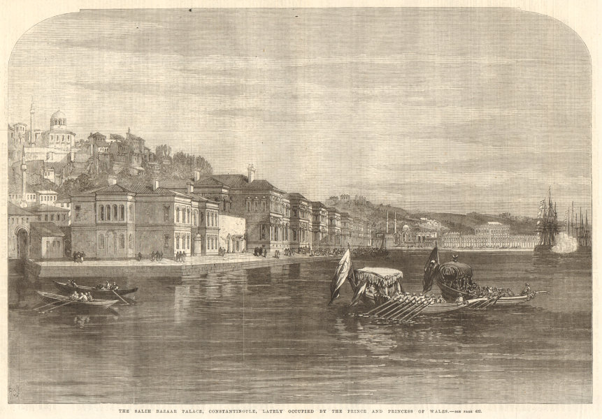 Associate Product The Salih Bazaar Palace, Constantinople (Istanbul) . Turkey. Istanbul 1869