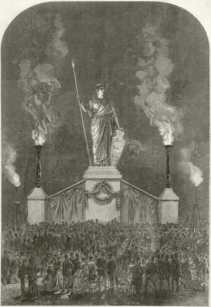 Associate Product Danish Royal Marriage: huge allegorical statue of Denmark, Rosenborg garden 1869