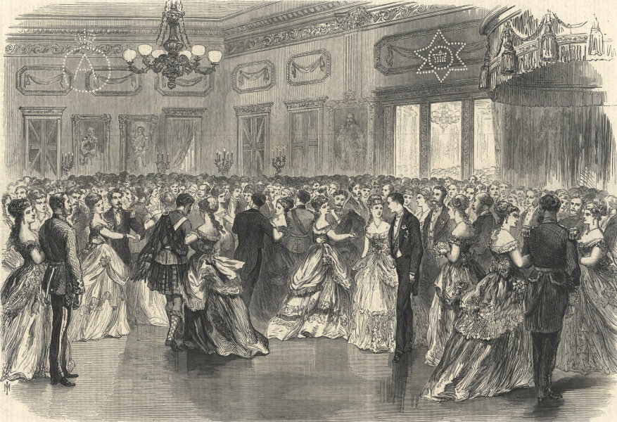 Associate Product Ball at Halifax, Nova Scotia, in honour of Prince Arthur. Canada. Society 1869