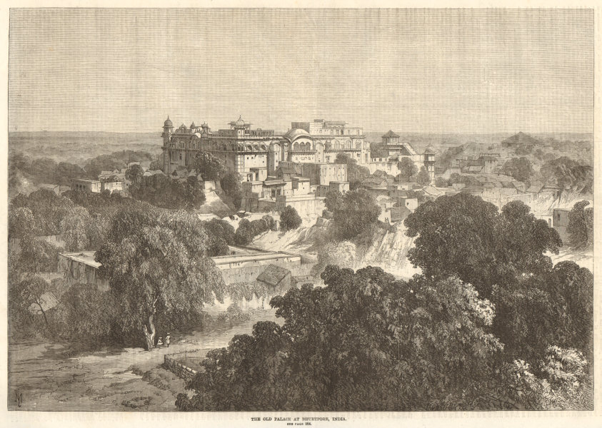 Associate Product The old palace at Bharatpur, India 1870 antique ILN full page print
