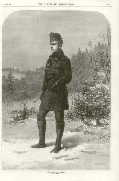 Associate Product Prince Arthur in Canada 1870 antique ILN full page print