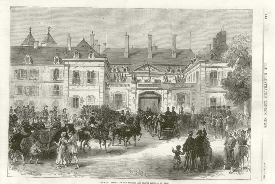 Associate Product Franco-Prussian War: The Emperor & Prince Imperial at Metz. Moselle 1870