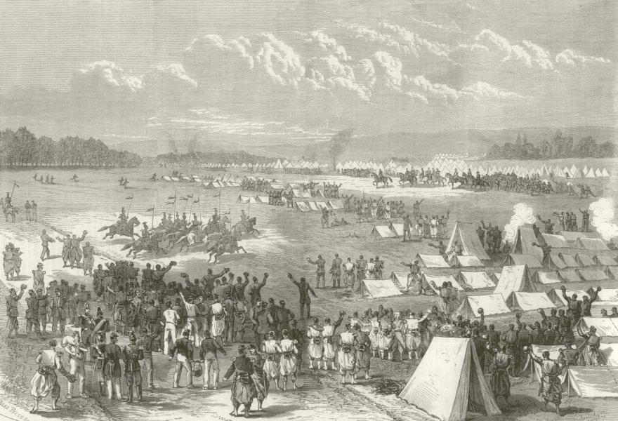 Associate Product Franco-Prussian War: Emperor's visit. Camp at Châlons-en-Champagne. Marne 1870