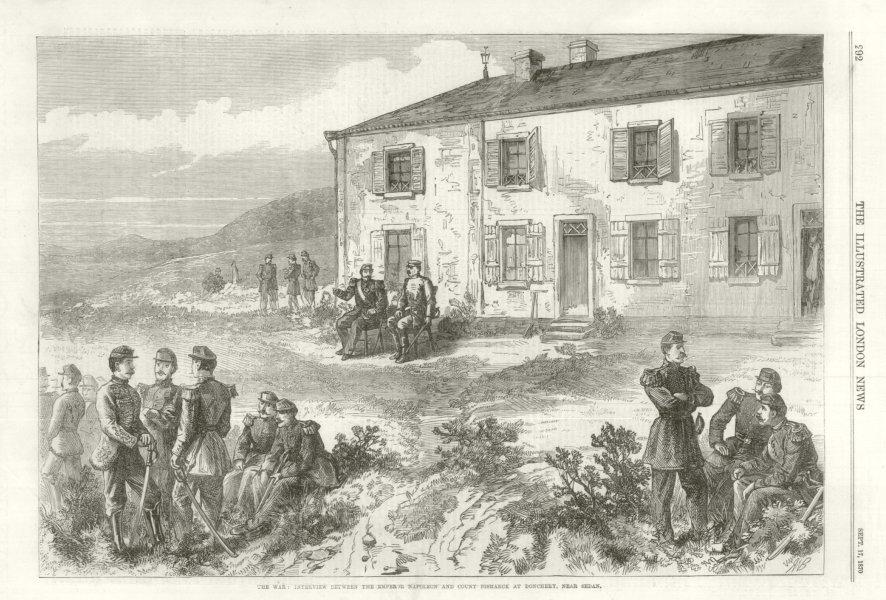 Associate Product Franco-Prussian War: Emperor Napoleon & Count Bismarck at Donchery, Sedan 1870