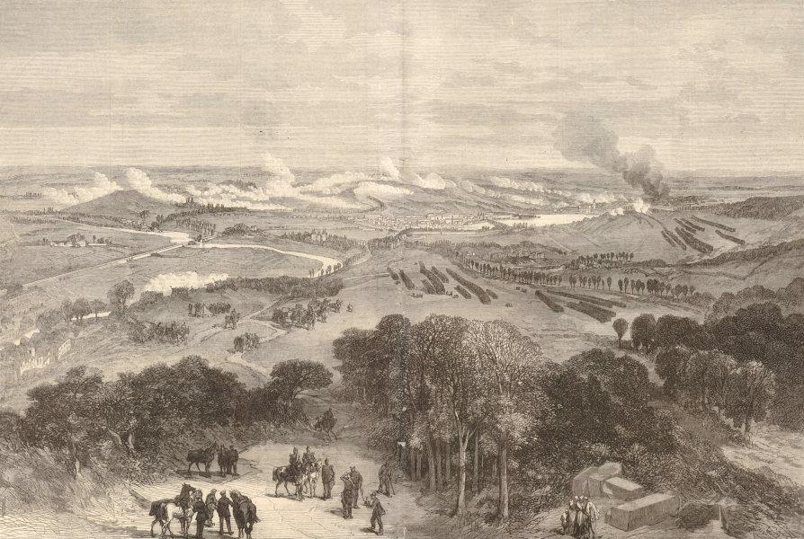 Associate Product Franco-Prussian War: Battle of Sedan. Hill King of Prussia. Ardennes 1870