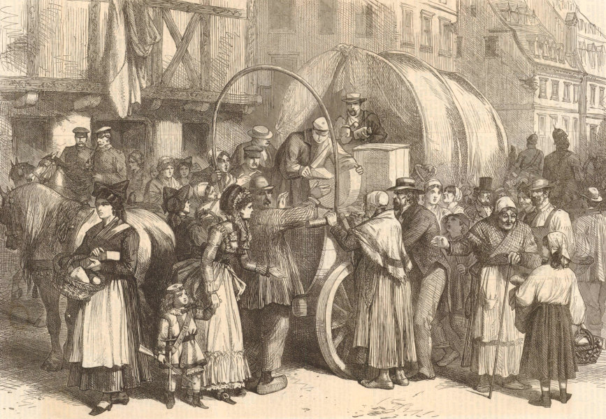 Associate Product Franco-Prussian War: arrival of provisions at Strasbourg. Bas-Rhin 1870