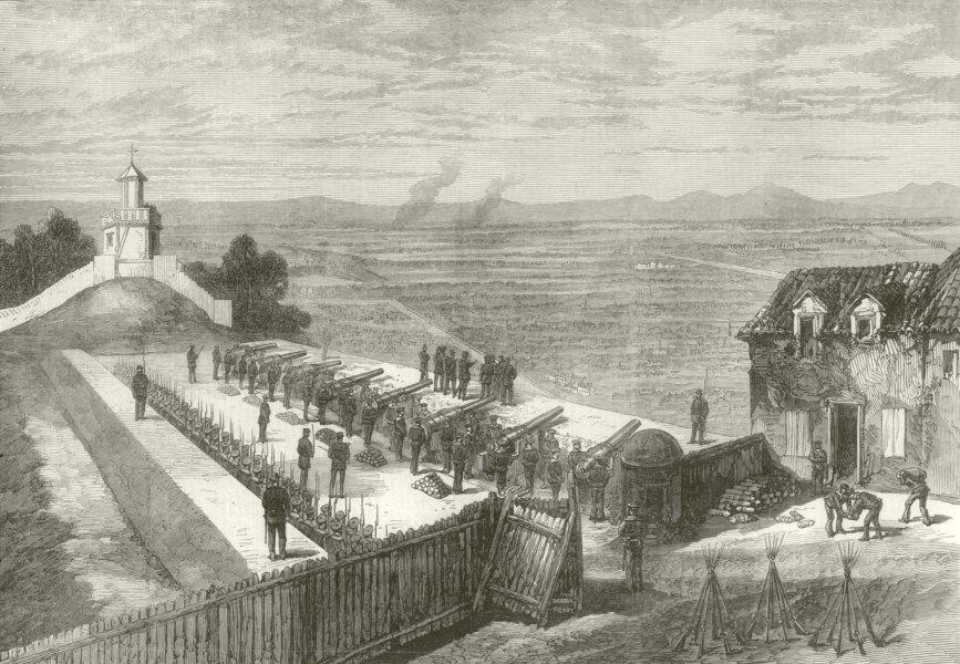 Associate Product Defence of Paris: General Trochu inspecting the Buttes Montmartre batteries 1870