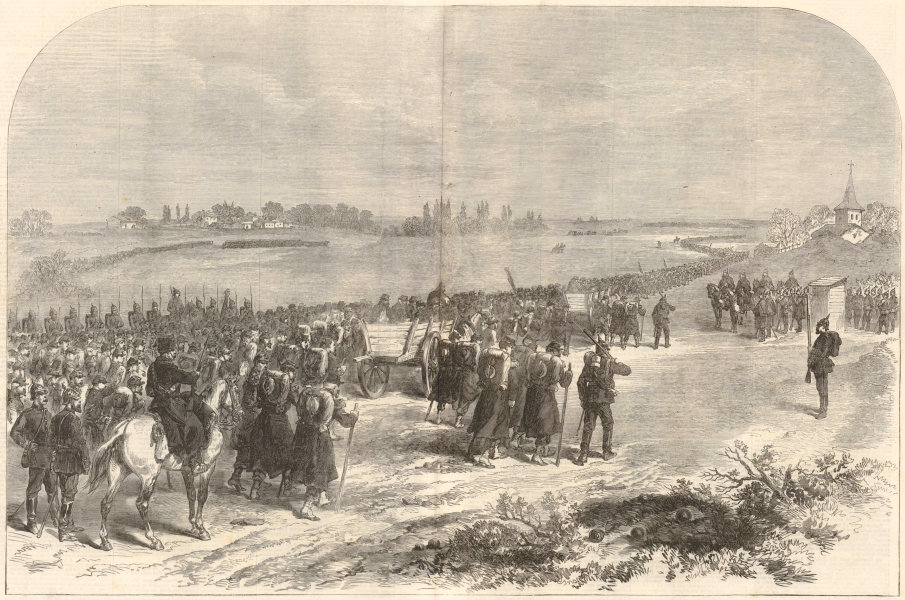 Associate Product Franco-Prussian War: Surrender of Metz: Marshal Bazaine's army as PoWs 1870