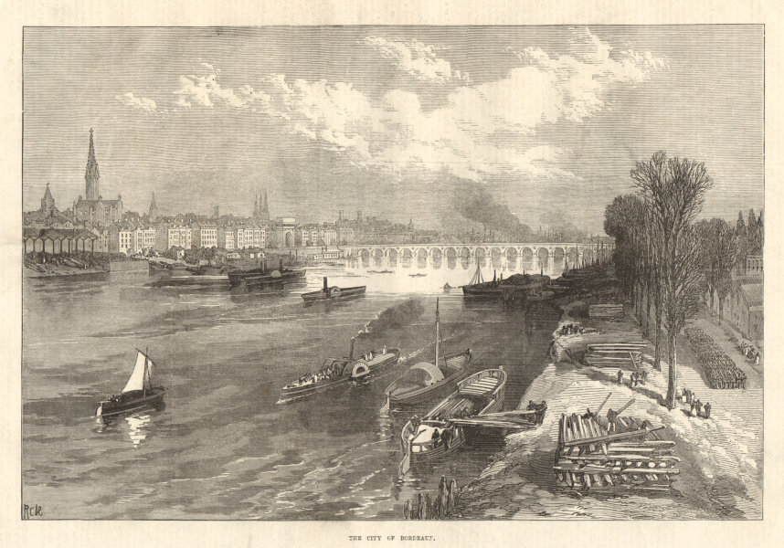 Associate Product The city of Bordeaux. Gironde 1871 antique ILN full page print
