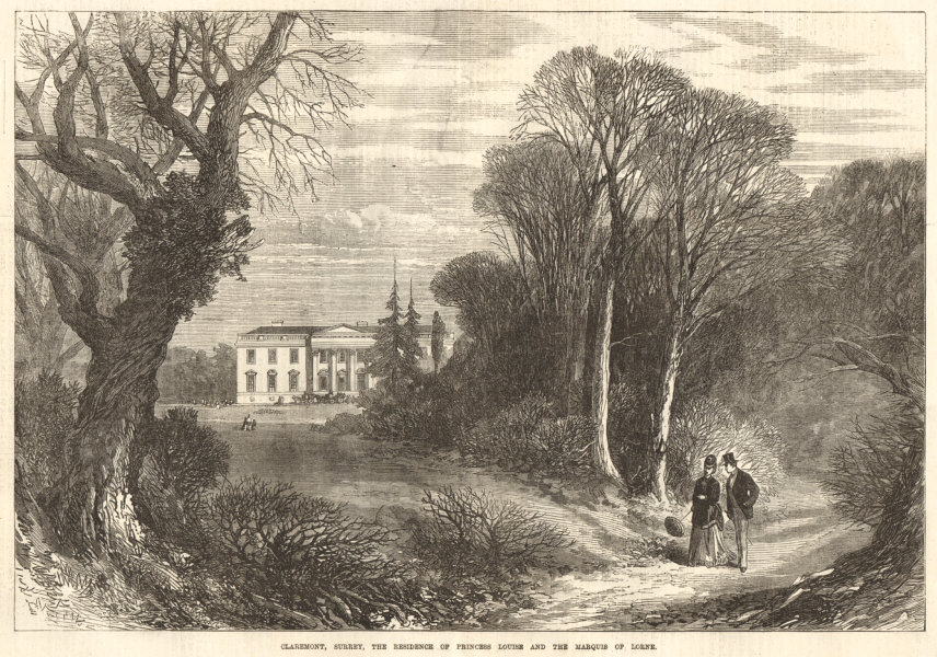 Associate Product Claremont, Surrey, The residence of Princess Louise & the Marquis of Lorne 1871