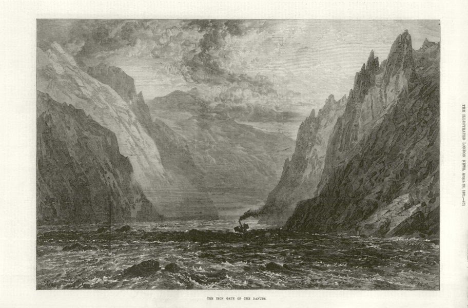 Associate Product The Iron Gate of the Danube. Romania 1871 antique ILN full page print