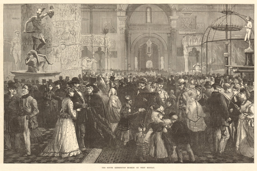 Associate Product The South Kensington (now Victoria & Albert) Museum on Whit Monday. London 1871