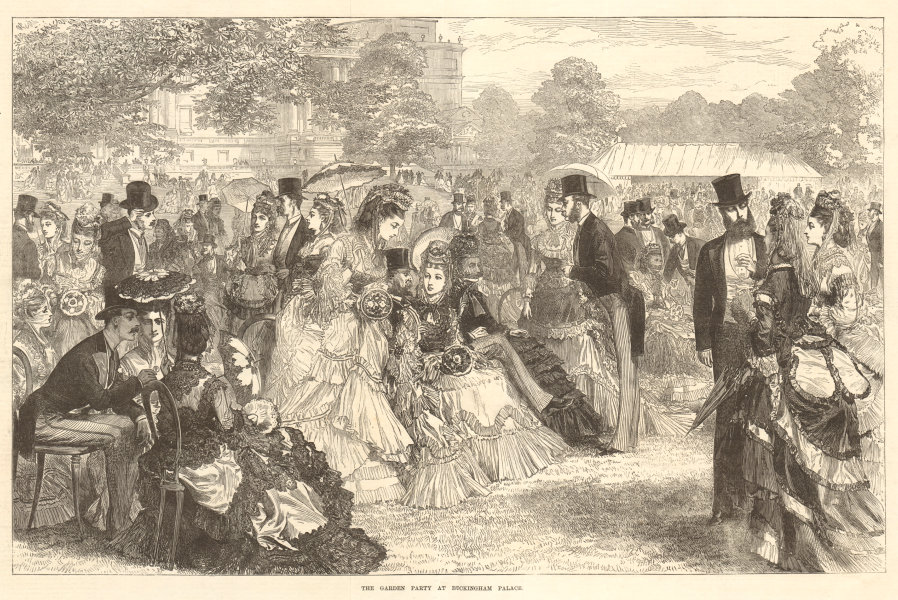 Associate Product The garden party at Buckingham Palace. London. Society 1871 antique ILN page