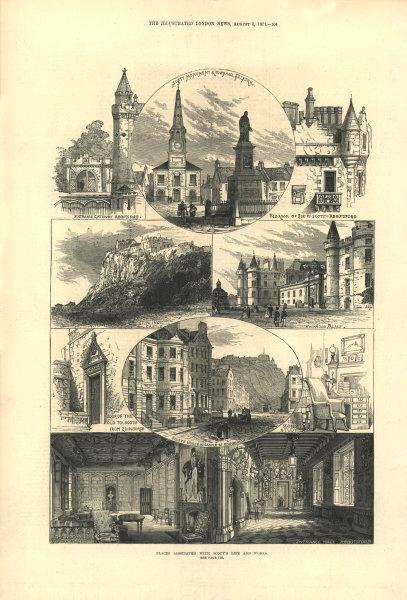 Associate Product Sir Walter Scott: Abbotsford Stirling Holyrood Selkirk Castle St. Edinburgh 1871