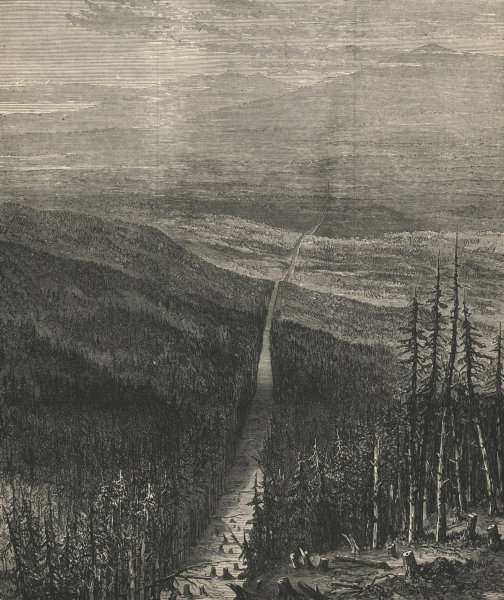 The frontier of British Columbia. Canada 1872 antique ILN full page print