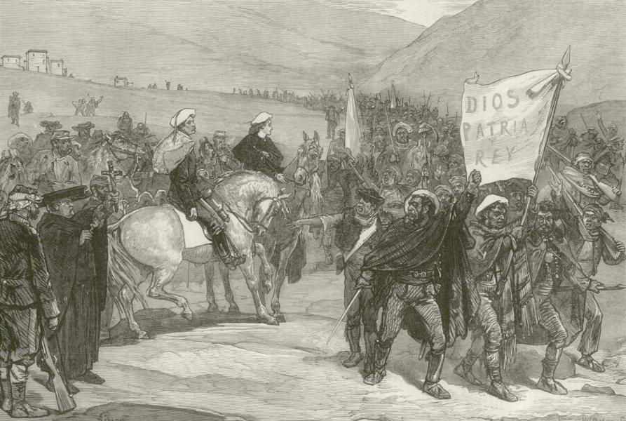 Associate Product Carlist War volunteers in Catalonia (Catalunya). 1st Spanish Republic 1873