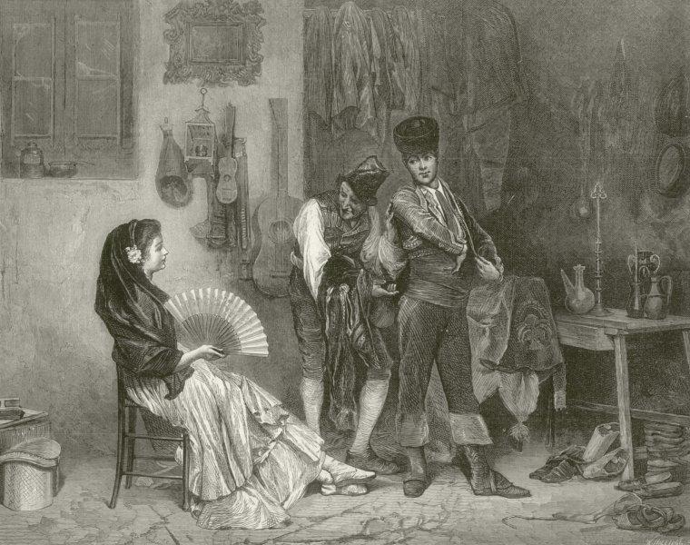 "Associate Product "" Le Fripier Espagnol "" by Worms. Spain. Second hand clothes dealer 1873"