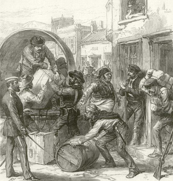 Associate Product Spanish Civil War Cartagena insurgents at Torrevieja 1st Spanish Republic 1873