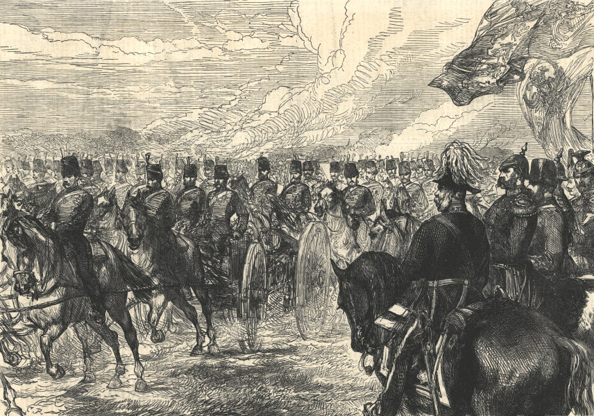 Associate Product The Emperor of Russia at Woolwich. London. Militaria 1874 ILN full page print