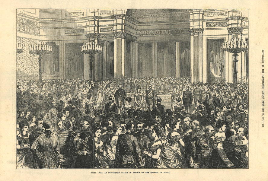 State ball at Buckingham Palace in honour of the Emperor of Russia 1874