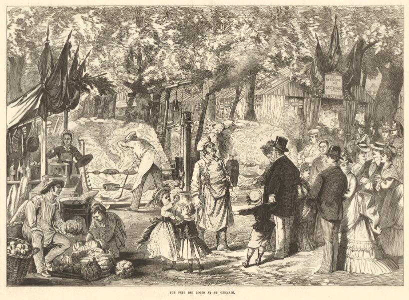 Associate Product The Fete des Loges at St. Germain. Paris. Society 1874 antique ILN full page