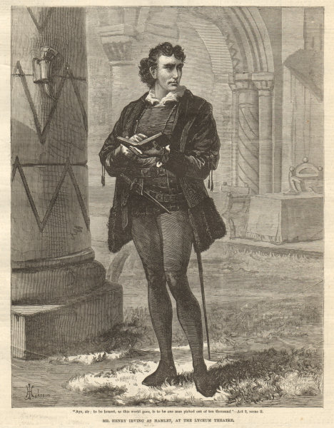 Associate Product Mr. Henry Irving as Hamlet, at the Lyceum Theatre. London. Shakespeare 1874