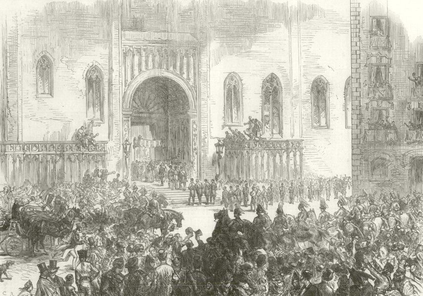 Associate Product King of Spain reception Catedral de la Santa Cruz y Santa Eulalia Barcelona 1875