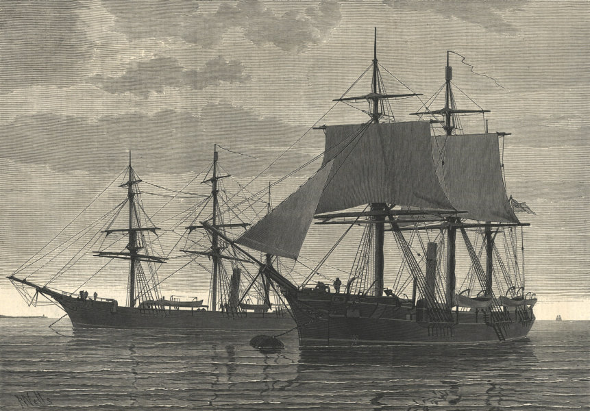 Associate Product The Arctic Expedition - the Discovery - the Alert. Ships 1875 antique ILN page