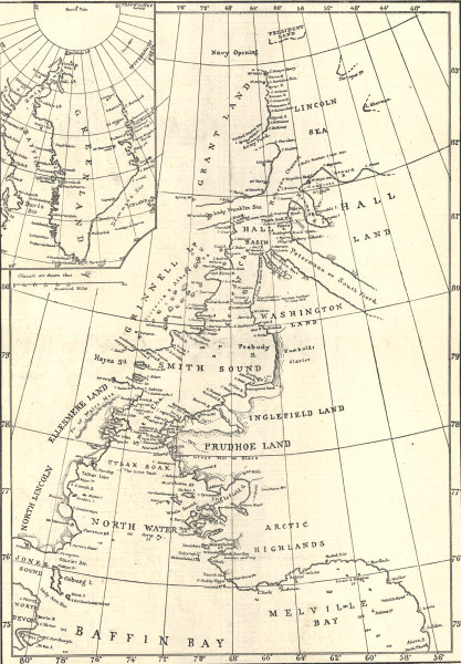 Associate Product The Arctic expedition: Smith Sound route to the North Polar Sea 1875 map