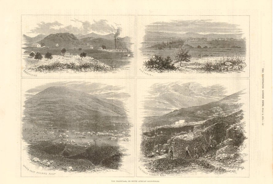 Associate Product Transvaal South African gold fields. Erstelling Pretoria Pilgrims Rest 1875