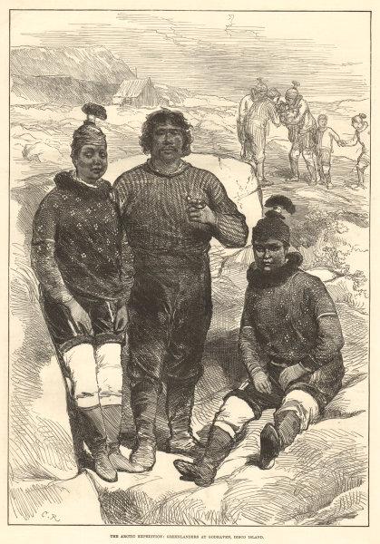 Associate Product British Arctic Expedition: Greenlanders Qeqertarsuaq (Godhavn) Disko island 1875