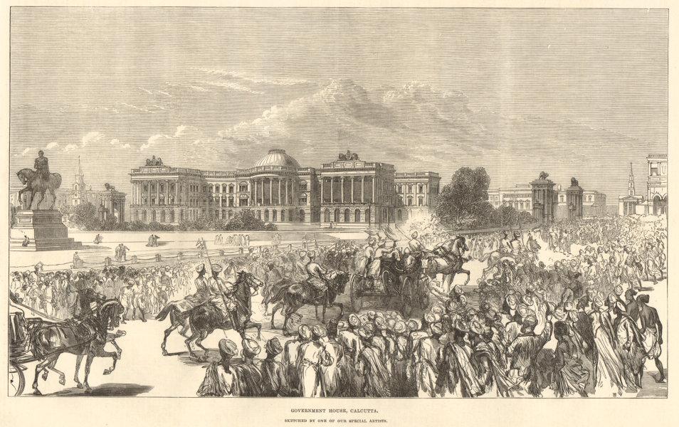 Associate Product Government House, Calcutta (Kolkata) . India 1876 antique ILN full page print