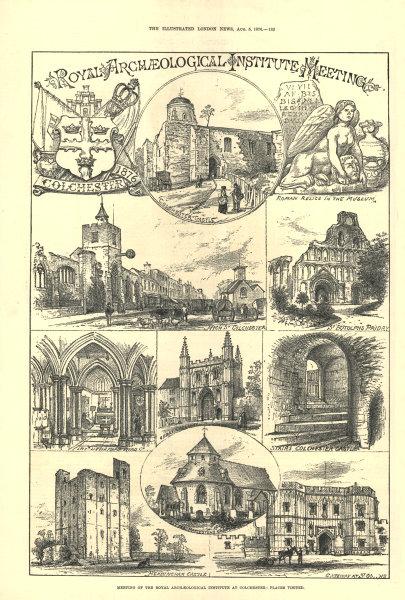 Associate Product Colchester: Castle St Botolph's Headingham Little Maplestead High Street 1876