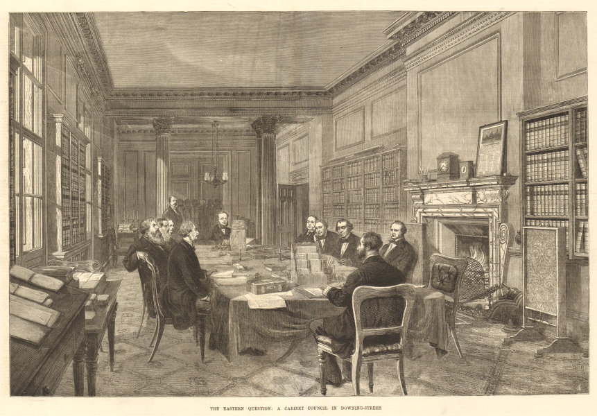 Associate Product The Eastern Question: Downing Street Cabinet council. Disraeli government 1877