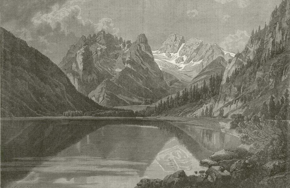 Associate Product South Tyrol scenery: Monte Cristallo & Dürrensee. Austria Italy Dolomites 1877