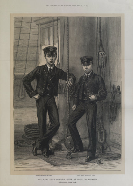 Associate Product Prince of Wales (Edward VII)'s sons, Albert Victor & George V. Britannia 1878