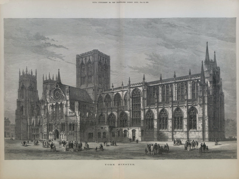 Associate Product York Minster. Yorkshire. Churches 1878 antique ILN full page print