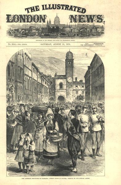 Associate Product The Austrian provinces of Dalmatia: street scene in Dubrovnik. Croatia 1878