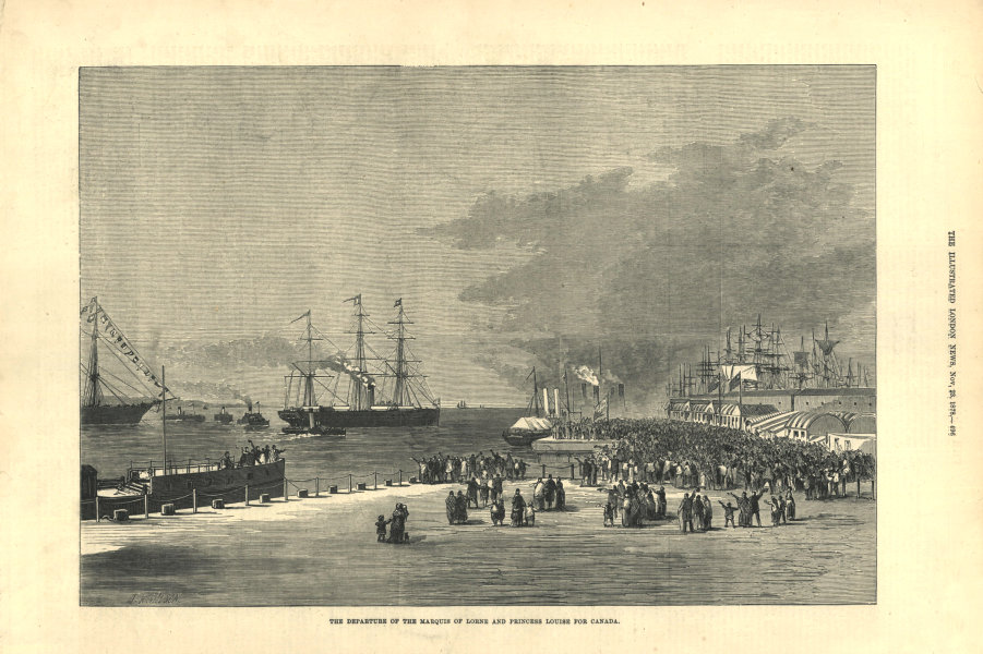 Associate Product The Marquis of Lorne & Princess Louise departing from Liverpool for Canada 1878
