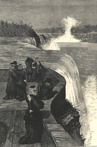 Associate Product Marquis & Marchioness of Lorne (Princess Louise) at Niagara Falls, Canada 1879