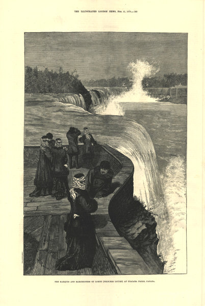 Marquis & Marchioness of Lorne (Princess Louise) at Niagara Falls, Canada 1879