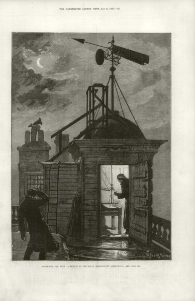 Associate Product Measuring the wind: A sketch at the Royal Observatory, Greenwich. London 1880