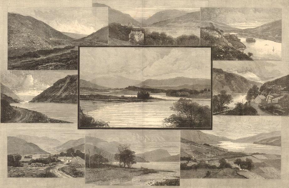 Associate Product Highland Railway views. Callander Oban Glen Ogle Brander Dalmally Cruachan 1880