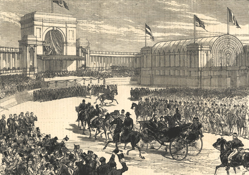 Associate Product King Leopold opening the Belgian Independence Jubilee, Brussels, Belgium 1880