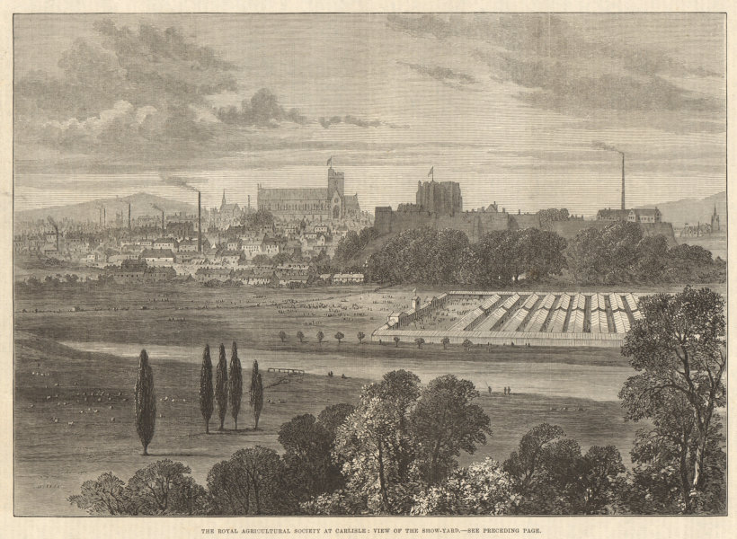 Associate Product The Royal Agricultural Society at Carlisle: view of the show-yard. Cumbria 1880