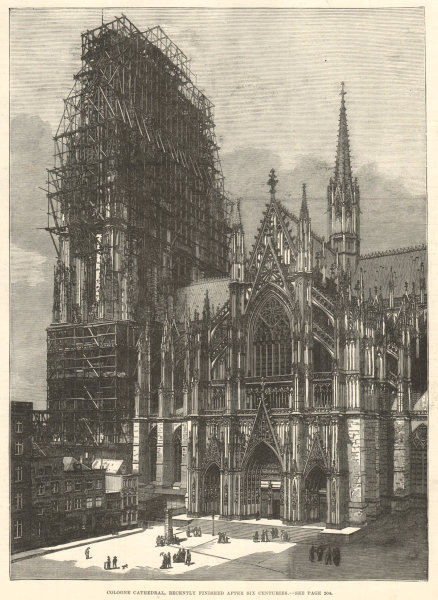 Associate Product Cologne Cathedral, recently finished after six centuries. Germany. Koln 1880