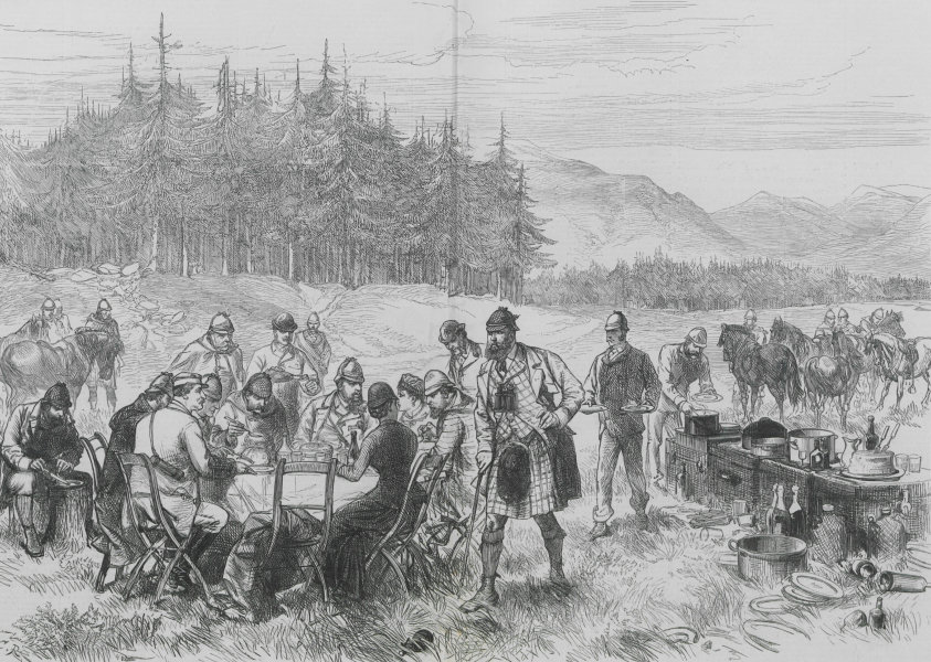 Associate Product Prince of Wales (later Edward VII) in the Highlands: lunch in the forest 1880