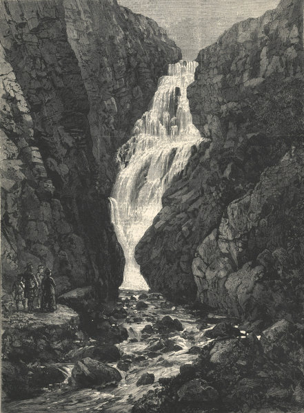 Associate Product Queen Victoria in the Highlands: Falls of the Glassalt. Scotland 1880